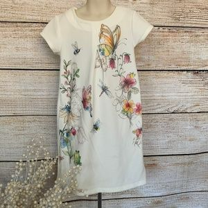 Next white dress with butterfly/floral design